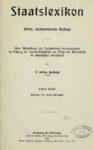 Staatslexikon – Erster Band: Abandon – Elsaß-Lothringen