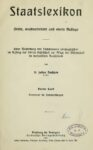 Staatslexikon – Vierter Band: Patentrecht – Staatsprüfungen
