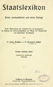 Staatslexikon – Fünfter Band: Staatsrat – Zweikampf
