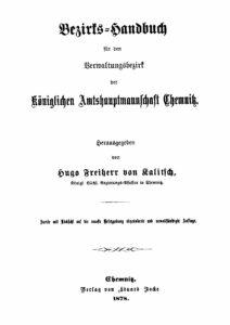 Bezirkshandbuch für den Verwaltungsbezirk der Königlichen Amtshauptmannschaft Chemnitz