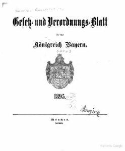 Gesetz- und Verordnungs-Blatt für das Königreich Bayern – Jahrgang 1895