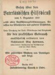 Gesetz über den vaterländischen Hilfsdienst vom 5. Dezember 1916