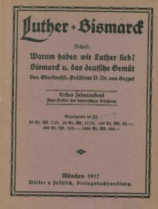 Luther und Bismarck – 1917