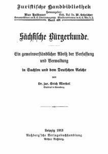 Band 428 – Sächsische Bürgerkunde