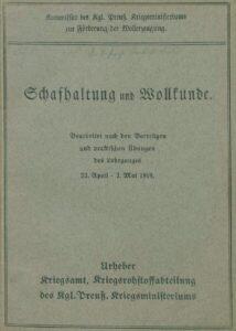 Schafhaltung und Wollkunde – 1918