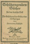 Schützengraben- Bücher für das deutsche Volk – Die Gefahren für das deutsche Volk – 1917
