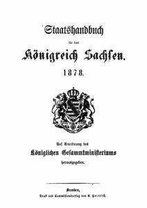 Staatshandbuch für das Königreich Sachsen