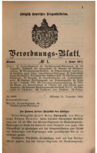 Verordnungs – Blatt des Königlich Bayerischen Kriegsministeriums – 1905