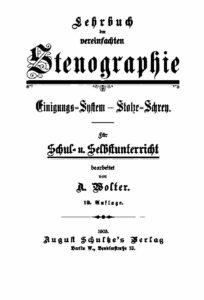 Lehrbuch der vereinfachten Stenographie