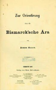 Zur Orientirung über die Bismarck'sche Ära
