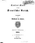 Central-Blatt für das Deutsche Reich – Zwölfter Jahrgang – 1884