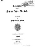 Central-Blatt für das Deutsche Reich – Sechszehnter Jahrgang -1888