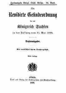 94. Band – Die Gesindeordnung für das Königreich Sachsen