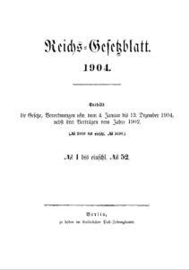 Reichs-Gesetzblatt – Jahrgang 1904
