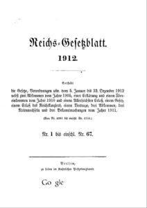 Reichs-Gesetzblatt – Jahrgang 1912