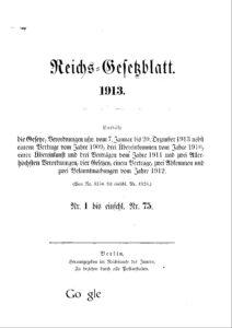 Reichs-Gesetzblatt – Jahrgang 1913