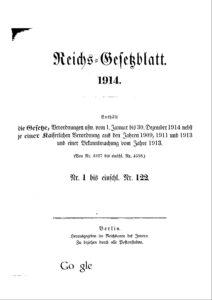 Reichs-Gesetzblatt – Jahrgang 1914