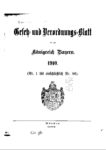 Gesetz- und Verordnungsblatt für das Königreich Bayern – Jahrgang 1910
