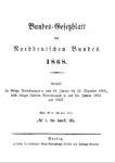 Bundes-Gesetzblatt des Norddeutschen Bundes – Jahrgang 1868