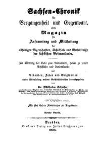 Sachsen-Chronik für Vergangenheit und Gegenwart