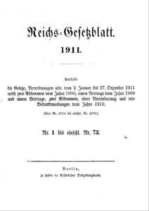 Reichs-Gesetzblatt – Jahrgang 1911
