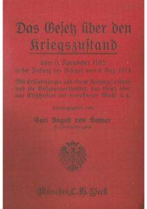 Das Gesetz über den Kriegszustand vom 5. November 1912