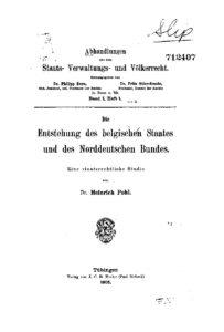 Abhandlungen aus dem Staats- Verwaltungs- u. Völkerrecht – Erster Band