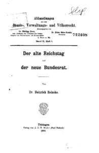 Abhandlungen aus dem Staats- Verwaltungs- u. Völkerrecht – Zweiter Band