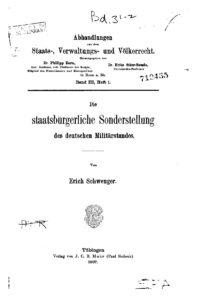 Abhandlungen aus dem Staats- Verwaltungs- u. Völkerrecht – Dritter Band