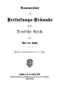 Commentar zur Verfassungsurkunde für das Deutsche Reich