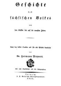 Geschichte des sächsischen Volkes