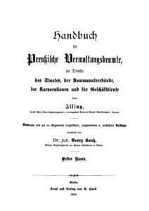 Handbuch für Preußische Verwaltungsbeamte – Erster Band
