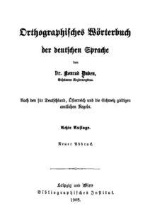 Orthographisches Wörterbuch der deutschen Sprache