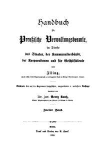 Handbuch für Preußische Verwaltungsbeamte – Zweiter Band