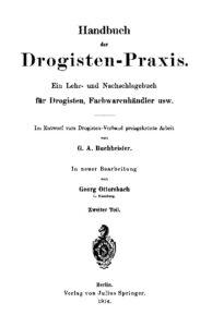 Handbuch der Drogisten-Praxis – Zweiter Teil