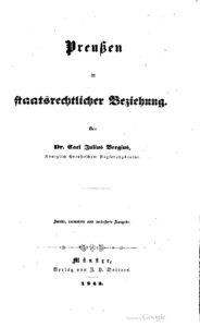 Preußen in staatsrechtlicher Beziehung