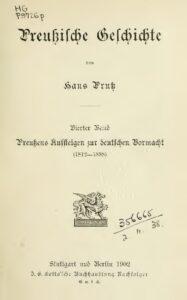 Preußische Geschichte – Vierter Band: Preußens Aufsteigen zur deutschen Vormacht
