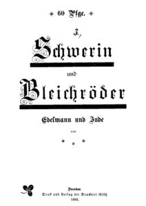 Schwerin und Bleichröder