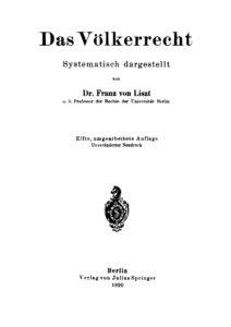 Das Völkerrecht – Systematisch dargestellt