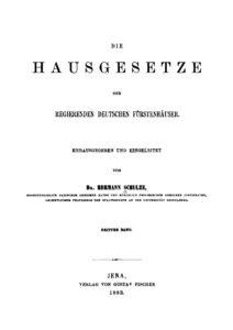 Die Hausgesetze der regierenden deutschen Fürstenhäuser – Dritter Band