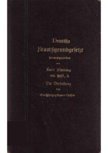 Die Verfassung des Großherzogtums Hessen vom 17. Dezember 1820
