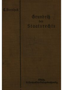 Grundriß des Deutschen Staatsrechts