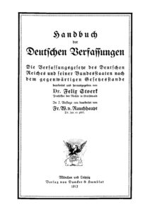 Handbuch der Deutschen Verfassungen