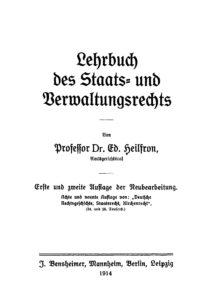 Das öffentliche Recht des Deutschen Reichs – 1. Teil: Lehrbuch des Staats- und Verwaltungsrechts
